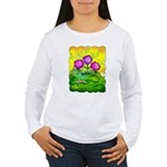 Flowers Keeping Cool Women's Long Sleeve T-Shirt