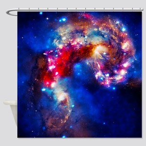 Colorful Cosmos Shower Curtain