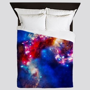 Colorful Cosmos Queen Duvet