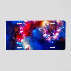 Colorful Cosmos Aluminum License Plate