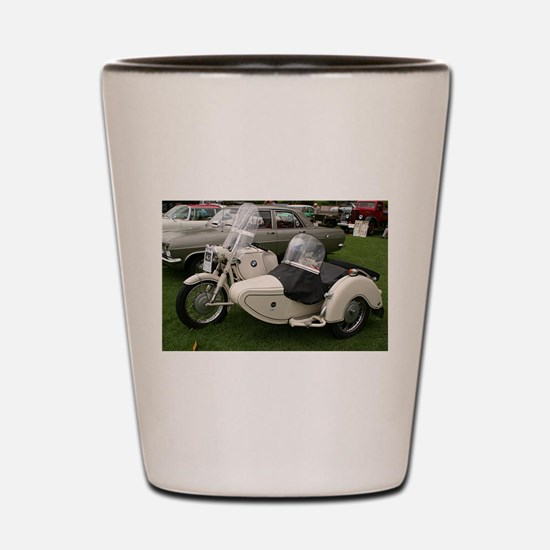 BMW Motorcycle with Sidecar Shot Glass