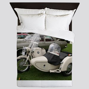 BMW Motorcycle with Sidecar Queen Duvet