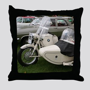BMW Motorcycle with Sidecar Throw Pillow