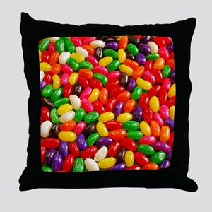 Colorful jellybeans Throw Pillow