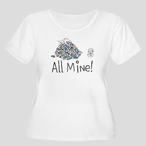 All Mine! Women's Scoop Neck Plus Size T-Shirt