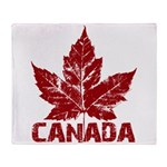 Cool Canada Souvenir Throw Blanket