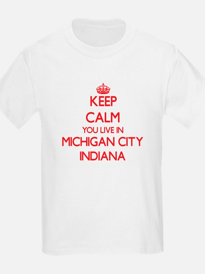 Keep calm you live in Michigan City Indian T-Shirt