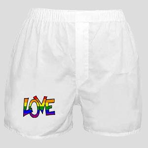 Rainbow Pride Love Boxer Shorts