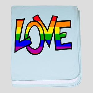 Rainbow Pride Love baby blanket