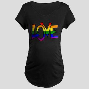 Rainbow Pride Love Maternity T-Shirt