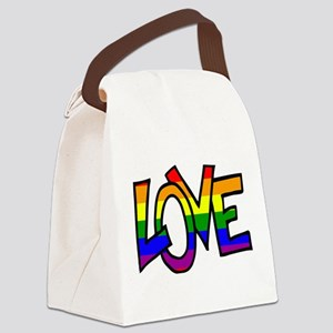 Rainbow Pride Love Canvas Lunch Bag