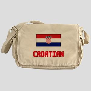 Croatian Flag Design Messenger Bag