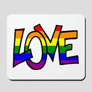Rainbow Pride Love Mousepad