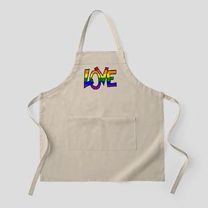 Rainbow Pride Love Apron