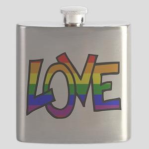 Rainbow Pride Love Flask