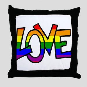 Rainbow Pride Love Throw Pillow