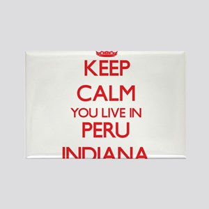 Keep calm you live in Peru Indiana Magnets