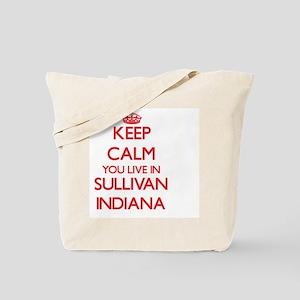 Keep calm you live in Sullivan Indiana Tote Bag