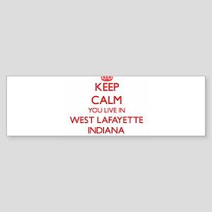 Keep calm you live in West Lafayett Bumper Sticker