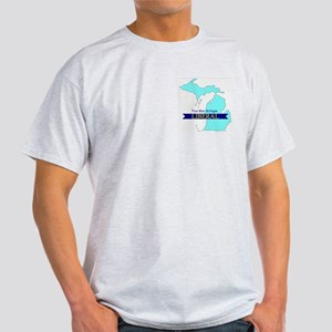 Ash Grey T-Shirt for True Blue Michigan LIBERAL