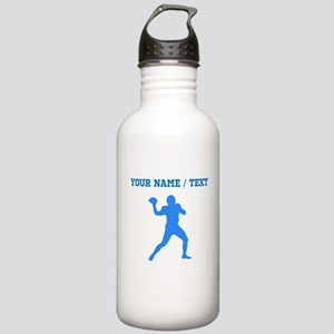 Custom Blue Quarterback Water Bottle