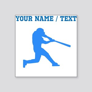 Custom Blue Baseball Batter Sticker