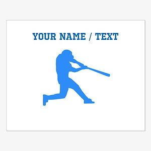 Custom Blue Baseball Batter Posters