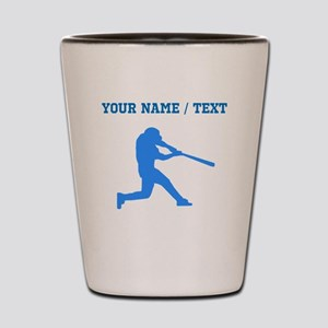 Custom Blue Baseball Batter Shot Glass