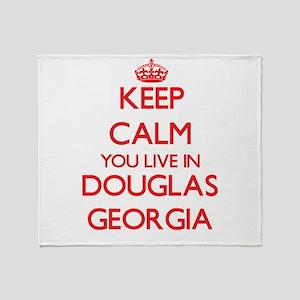 Keep calm you live in Douglas Georgi Throw Blanket
