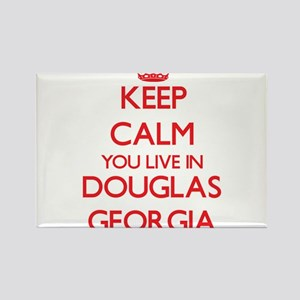 Keep calm you live in Douglas Georgia Magnets