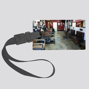 Barber Shop Large Luggage Tag