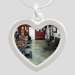 Barber Shop Silver Heart Necklace