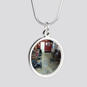 Barber Shop Silver Round Necklace