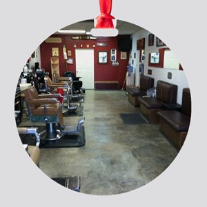Barber Shop Round Ornament