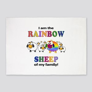 Rainbow Sheep 5'x7'Area Rug