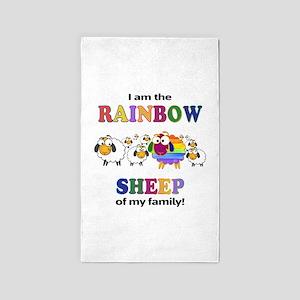 Rainbow Sheep Area Rug