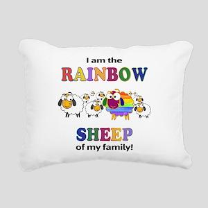 Rainbow Sheep Rectangular Canvas Pillow