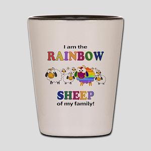 Rainbow Sheep Shot Glass