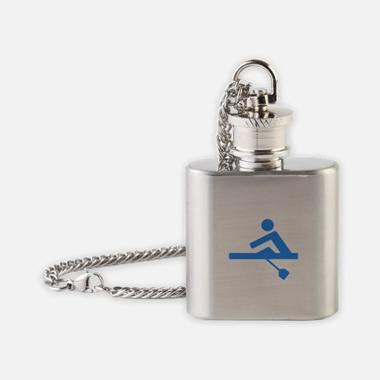 Blue Rower Flask Necklace
