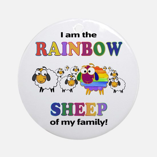 Rainbow Sheep Ornament (Round)