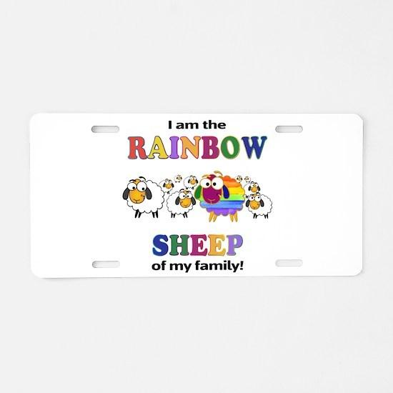 Rainbow Sheep Aluminum License Plate