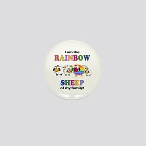 Rainbow Sheep Mini Button