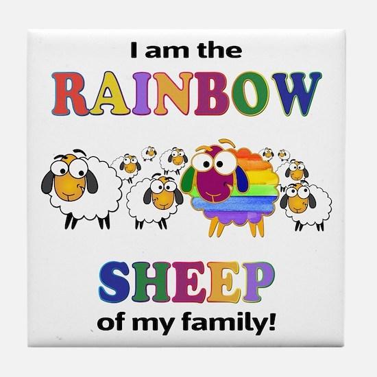 Rainbow Sheep Tile Coaster