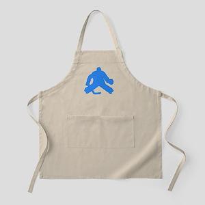 Blue Hockey Goalie Apron