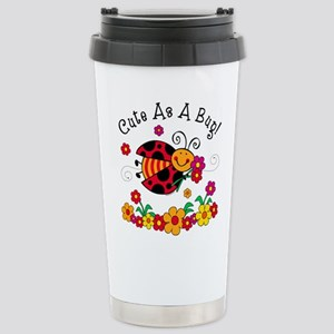 Ladybug Cute As A Bug Stainless Steel Travel Mug
