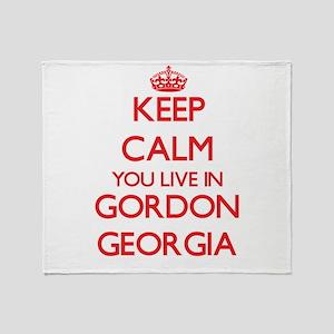 Keep calm you live in Gordon Georgia Throw Blanket