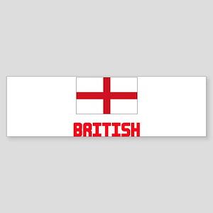 British Flag Design Bumper Sticker