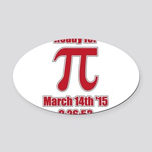 Math Humor Pi Oval Car Magnet