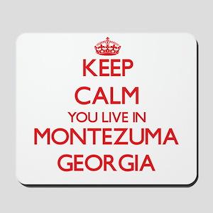 Keep calm you live in Montezuma Georgia Mousepad