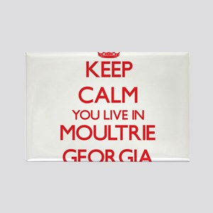 Keep calm you live in Moultrie Georgia Magnets